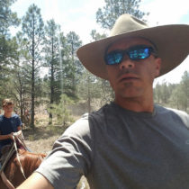Kaibab Selfie on Horseback